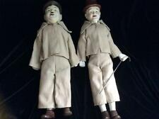 Laurel and Hardy Dolls, Bisque Heads/ Lower Arms & Legs, Cloth Bodies, 16-17""
