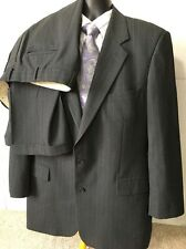 Brooks Brothers Two-Piece Charcoal Grey  Wool Suit 44L