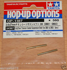 Tamiya 54387 2.6x27mm Titanium Coated Suspension Shaft (for DB01 & DB02 / 2 Pcs)