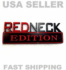 REDNECK EDITION JEEP car TRUCK EMBLEM logo DECAL sign ornament BLACK RED *new 1.