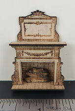 """KIT Embellished Fireplace Laser Cut Kit in quarter scale 1:48 1/4"""" by Jean Day"""