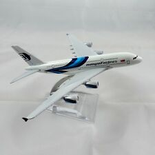 A380 AIRBUS MALAYSIA AIRLINES 16CM METAL PLANE MODEL DIECAST STAND DESKTOP GIFT
