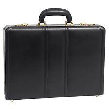 McKlein USA Daley Leather Attache Case Black 80435