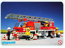 PLAYMOBIL 3781 Vintage FIRE Hook & Ladder TRUCK 1989