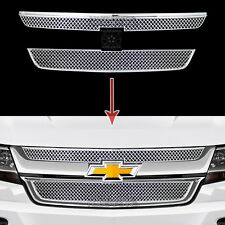 2015 2016 2017 Chevy Colorado Chrome Grille Overlays Front Grill Covers Inserts