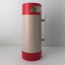 Vintage Aladdin Thermos Vacuum Bottle HY-LO 1 Quart Red Beige Wide Mouth #2