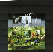 BURUNDI 2011 FAUNA/BIRDS 2 SHEETS OF 3 & 6 STAMPS  MNH