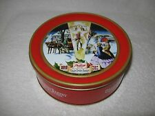 "1896 1996 ~100 Years Collin Street Bakery Deluxe 7"" Fruit Cake Tin Corsicana, TX"