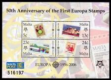 MALTA MNH 2006 Europa 50th Anniversary M/S