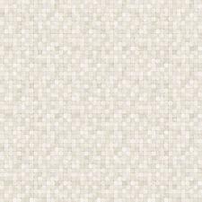 G67423 - Natürlich FX Beige, Braun & Weiß Mosaik Fliesen Effekt Galerie Tapete