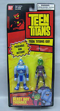 Teen Titans Beast Boy Vs Thunder 3.5 in Ban Dai long card action figures S103-10