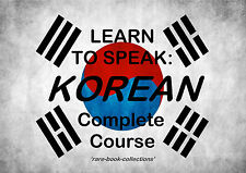 LEARN TO SPEAK KOREAN - LANGUAGE COURSE - 43 HRS AUDIO MP3 & 4 BOOKS ON DVD!
