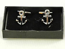 Anchor Sailing Boating Ship Sea Nautical Cufflinks Gift Mens Boxed