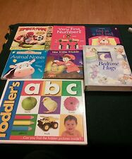 Lot of 7 Baby Toddler Plush and board books busy play