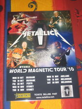 METALLICA - 2010 WORLD MAGNETIC AUSTRALIAN  TOUR  -  PROMO TOUR POSTER
