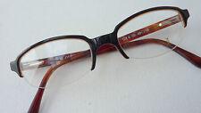 Gen-X Brille Damen Brille Fassung dunkel braun unten randlos Kunststoff Gr S