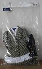 * WOW! VOLKS LA PARSONAL GREEN PLAID SKIRT SET * FITS SD SD13 DD DL *