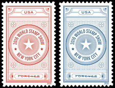 5062-63 World Stamp Show- NY  Set Of 2 Mint/nh (Free shipping offer)