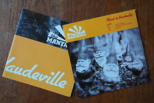 """THE MANYANAS """"Road To Vaudeville EP#1"""" promo CD 'Normal Norman'+2 and poster"""