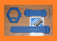 CASIO G-SHOCK BLUE SMURF STRAP / BAND & BEZEL / SHELL SET DW 6900 MM-2 SCARCE