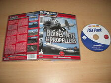 BLADES JETS & PROPELLERS Pc DVD Add-On Flight Simulator Sim 2004 & X FS2004 FSX