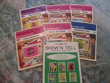 Lot of 10 GE ST Show'N Tell Picturesound Program Records & Film Strips 1964 & 66