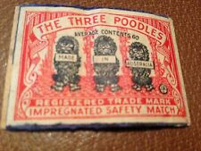 old match box top - the three poodles. made in australia