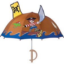 Kidorable Pirate Umbrella - Brown - One Size Umbrellas and Rain Gear NEW