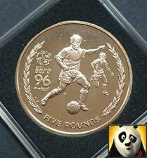 1996 SCARCE ISLE OF MAN £5 VIRENIUM FIVE POUND COIN EURO '96 FOOTBALL SOCCER UNC