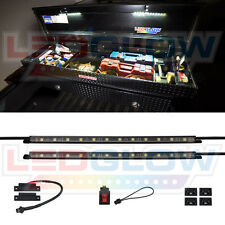 New LEDGlow 2pc 24 White SMD LEDs Truck Bed Tool Box Lighting Light Kit w Switch