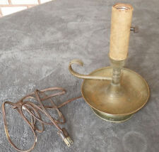 Vintage Antique Old Brass Candle Light Electric Lamp As Is Gothic Steam Unique