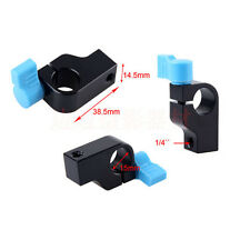 "15mm Rod Clamp Holder"" 1/4"" fili fotocamera DSLR Rig Rail Sistema di Supporto, Braccio"