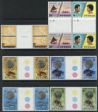 TUVALU MINT, NH GUTTER PAIRS