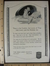 Rare Original VTG Century Co & Irish Linen Society Belfast Advertising Art Print