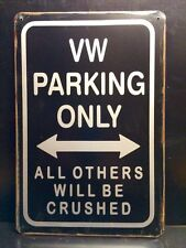VW Parking Metal Sign / Vintage Garage Wall Decor (30 x 20cm)