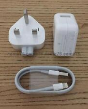 Genuine Apple iPhone iPad 10W Mains Official Charger + Lightning Usb Cable UK.