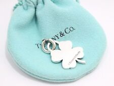 Tiffany & Co. Sterling Silver Clover Heart Charm For Necklace Bracelet