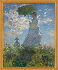 Woman with a Parasol - Madame Monet and Her Son C. Monet Familie B A1 01225