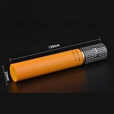 COHIBA Aluminum Thin Portable Travel Single Cigar Hydrating Tube