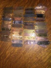 antique National cash register Model Serial Tag 710 711 716 717 NCR Candy Barber