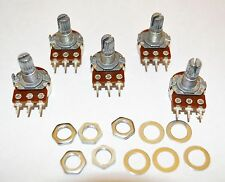 5 Potentiometers A25K 15mm shaft