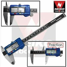NEIKO 01412A - Stainless Steel 6-in Digital Caliper w/ Metric/SAE/Inch-Fractions