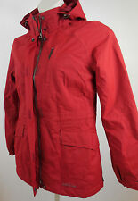 Eddie Bauer WeatherEdge RED Parka Women Medium Hooded Toggles Snow Ski Winter
