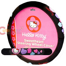 Sanrio Hello kitty Car Steering Wheel Cover Pink Sweet Heart Auto Accessory