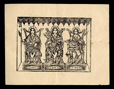 santino stampa popolare 1800 SS.ALFIO FILADELFIO CIRINO MM.