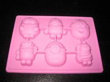 MINIONS DESPICABLE ME SILICONE MOLD BIRTHDAY CANDY PAN ICE TRAY CUPCAKE  FAVOR