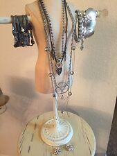 Vintage Mod Jewelry Lot Necklace Bracelet Iris Apfel Funky Chunky AB Rhinestone