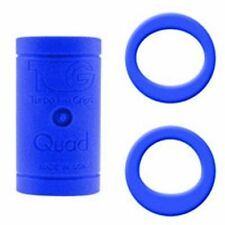 New Turbo Quad 4n1 Bowling Finger Insert Grip 25/32 Blue Perfect / Power Ovals