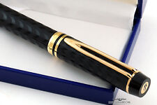 Waterman LeMan 100 Opera Black Chased Fountain Pen - Vintage Stock - EF Nib