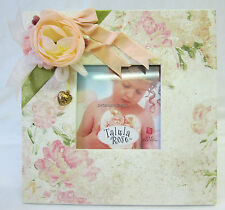 Talula Rose By Russ Shabby Square Photo Frame Freestanding Flowers,Ribbons,Charm